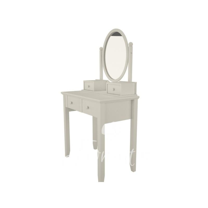 Biała toaletka z regulowanym lustrem dla  dziewczynki. Idealna do pokoju nastolatki